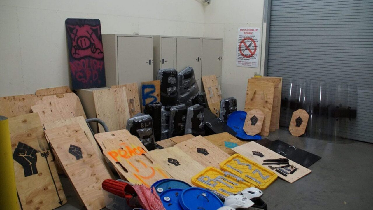 Seattle police discover weapons and shields during park cleanup