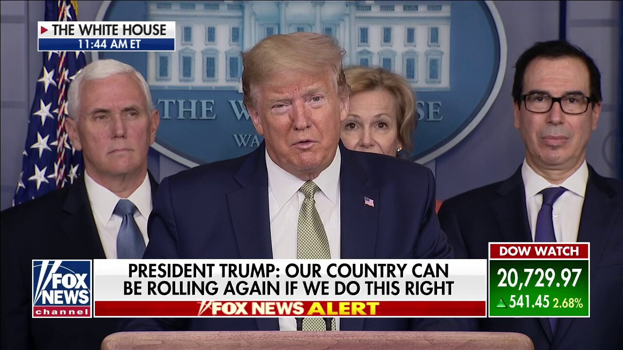 Trump: We are taking 'aggressive action' as one nation, one family