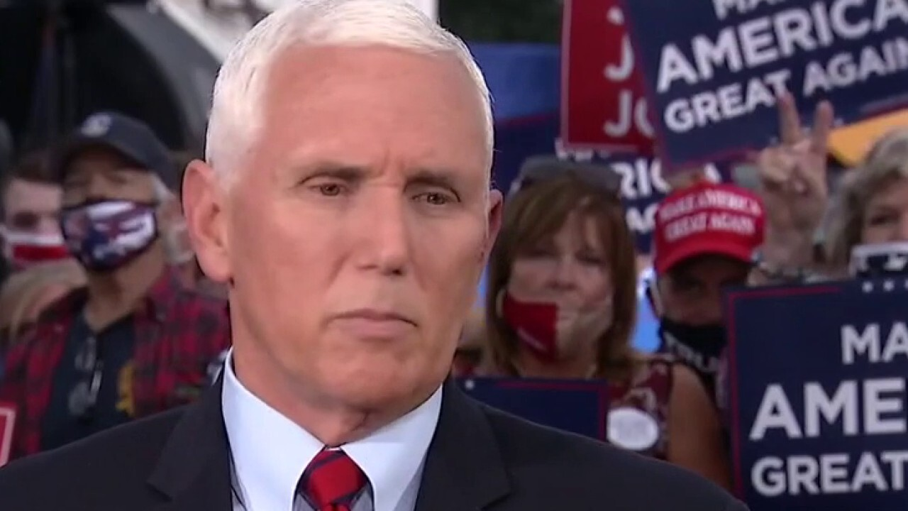 Mike Pence urges governors, mayors to restore order, defends COVID response, talks Trump's health and taxes