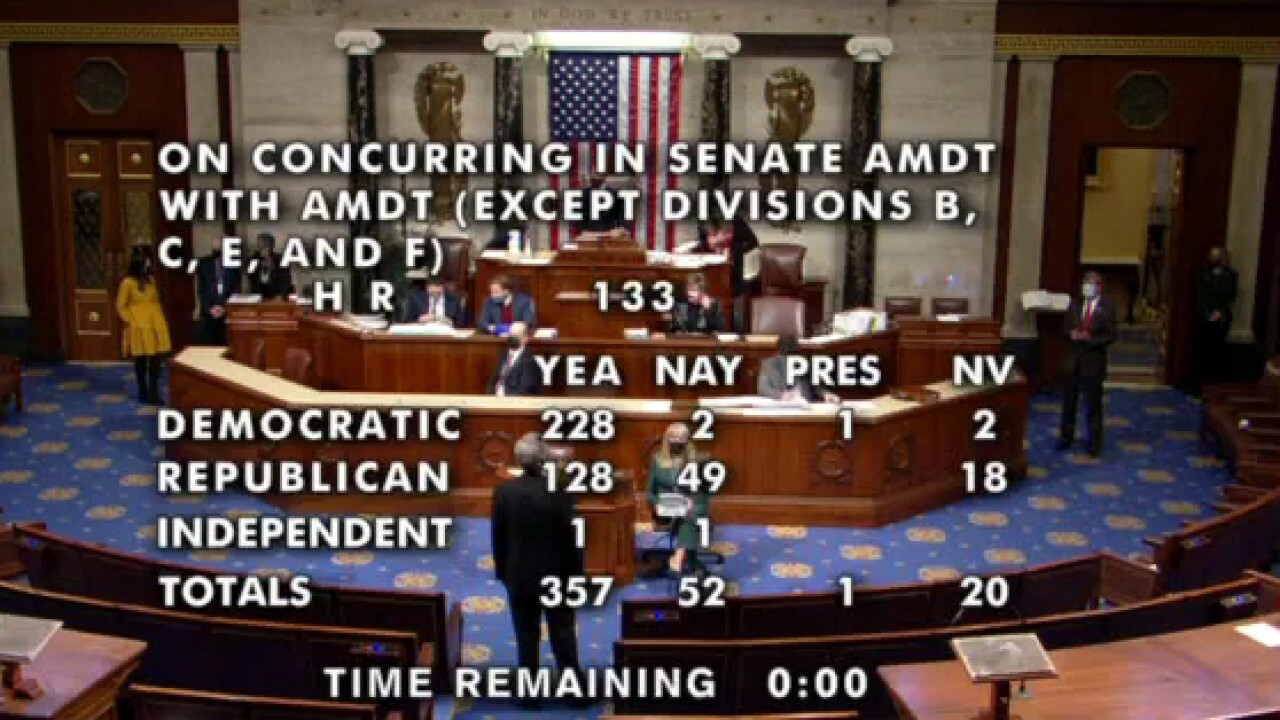House votes on COVID aid, government spending package; Senate to follow