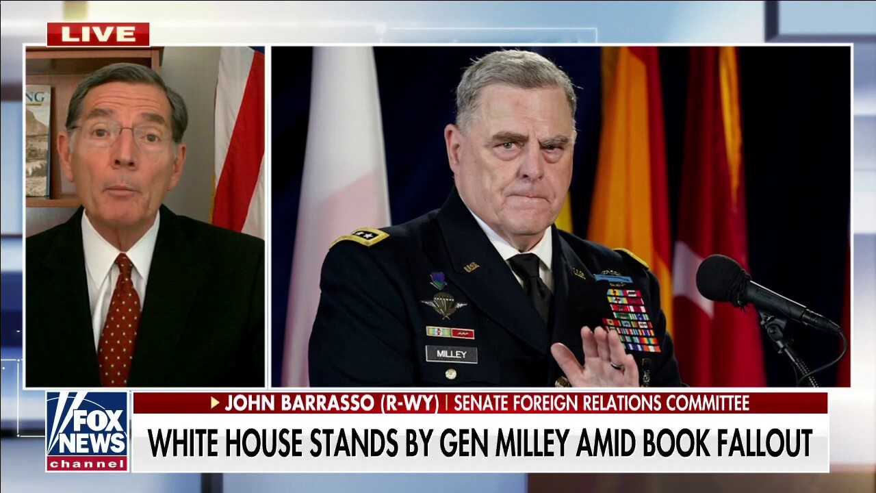 Sen. John Barrasso, R-Wyo., tells 'America Reports' Gen. Mark Milley must testify under oath and address the serious allegations of the phone calls with his Chinese counterparts.
