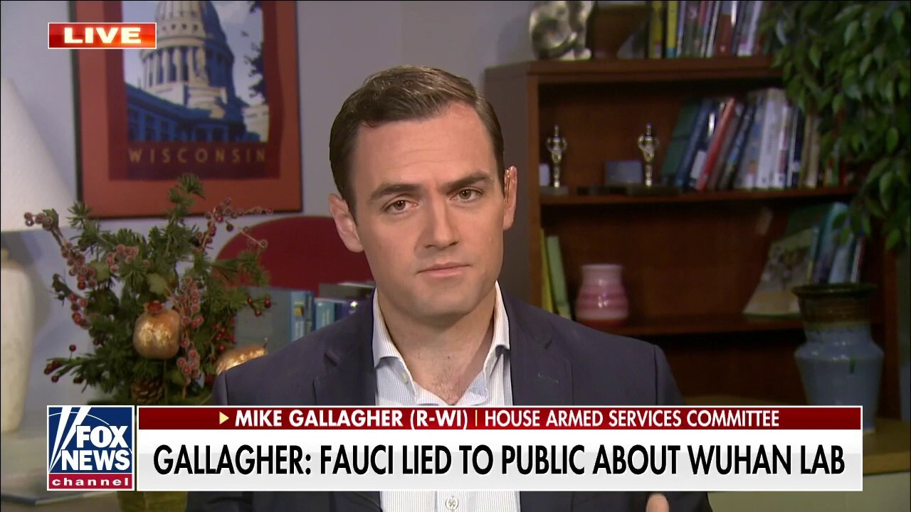 Rep. Mike Gallagher: Dr. Fauci lied to public about Wuhan lab