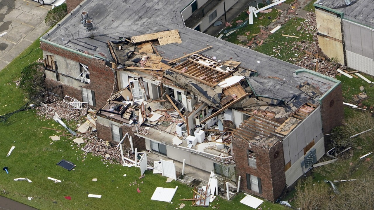 Lake Charles residents survey damage from Hurricane Laura