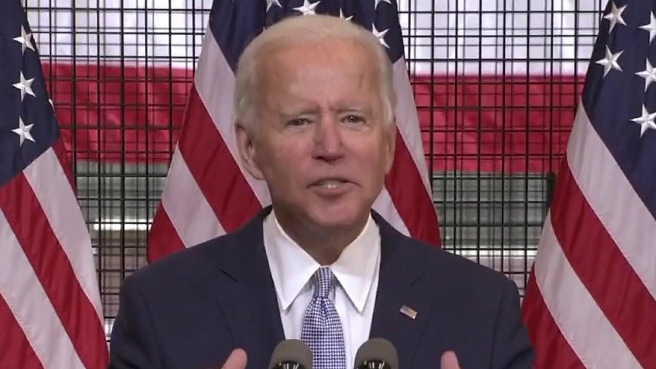 Joe Biden condemns violence, says Trump is causing division