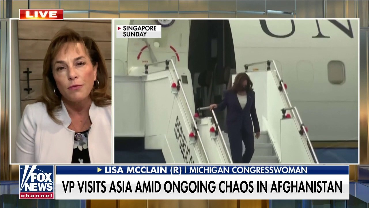 VP Harris 'laughing off' Afghanistan crisis no different than border crisis:  Rep. McClain