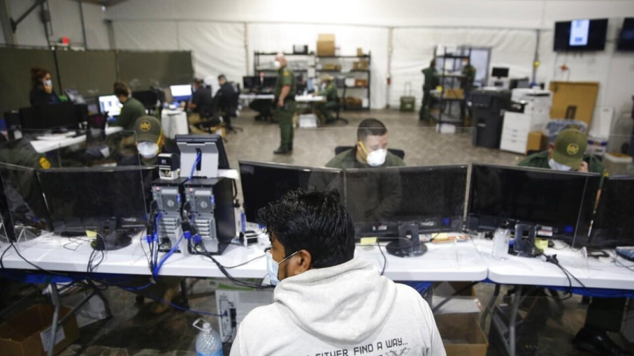 Media's first look inside border facilities under Biden admin