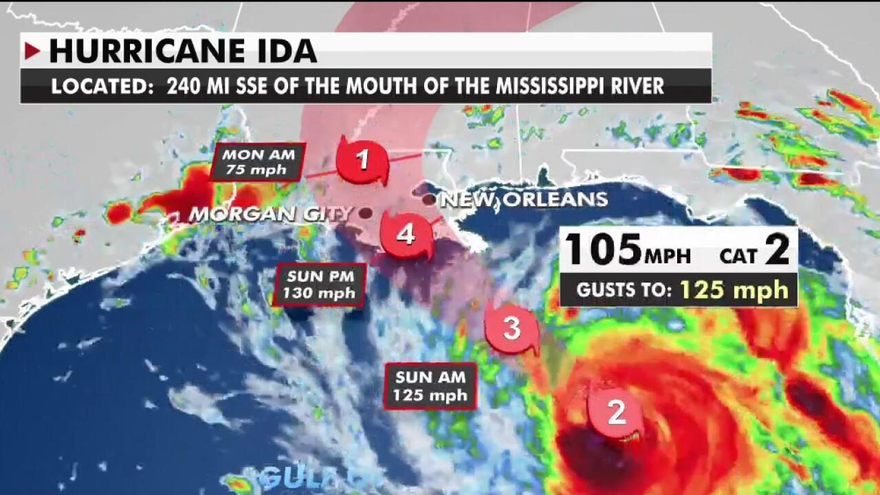 Hurricane Ida barreling toward Louisiana