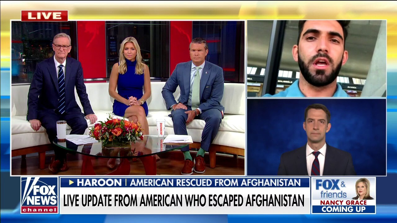 Tom Cotton: Biden is 'timid and fearful of the Taliban'
