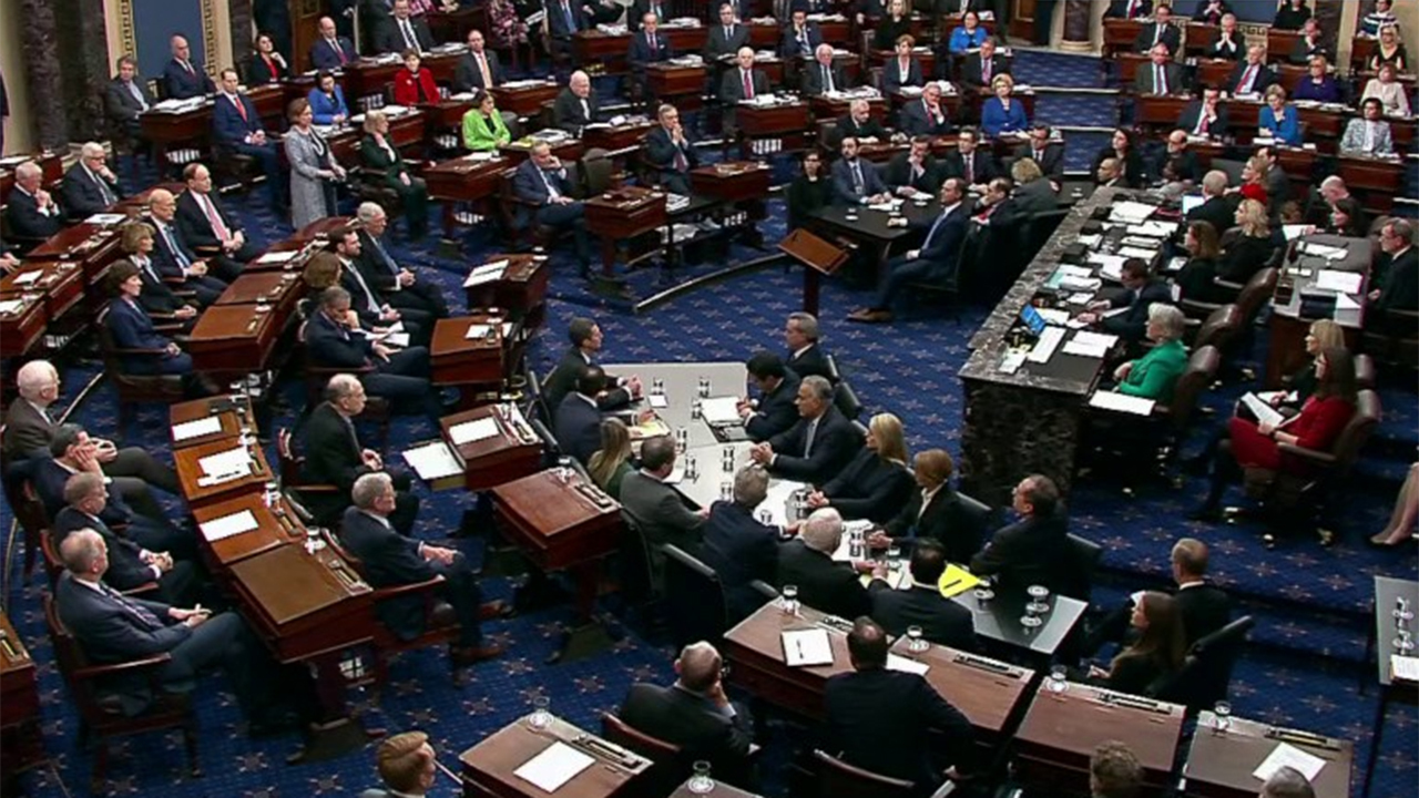 Senators vote 52-48 to acquit President Trump of abuse of power at Senate impeachment trial