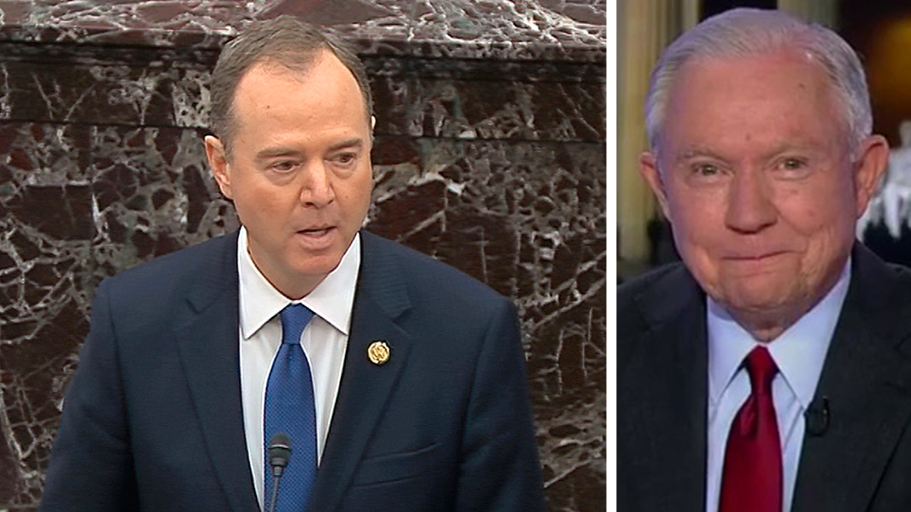 Sessions laughs off Schiff's suggestion that Trump could offer Alaska to Russia in exchange for election help