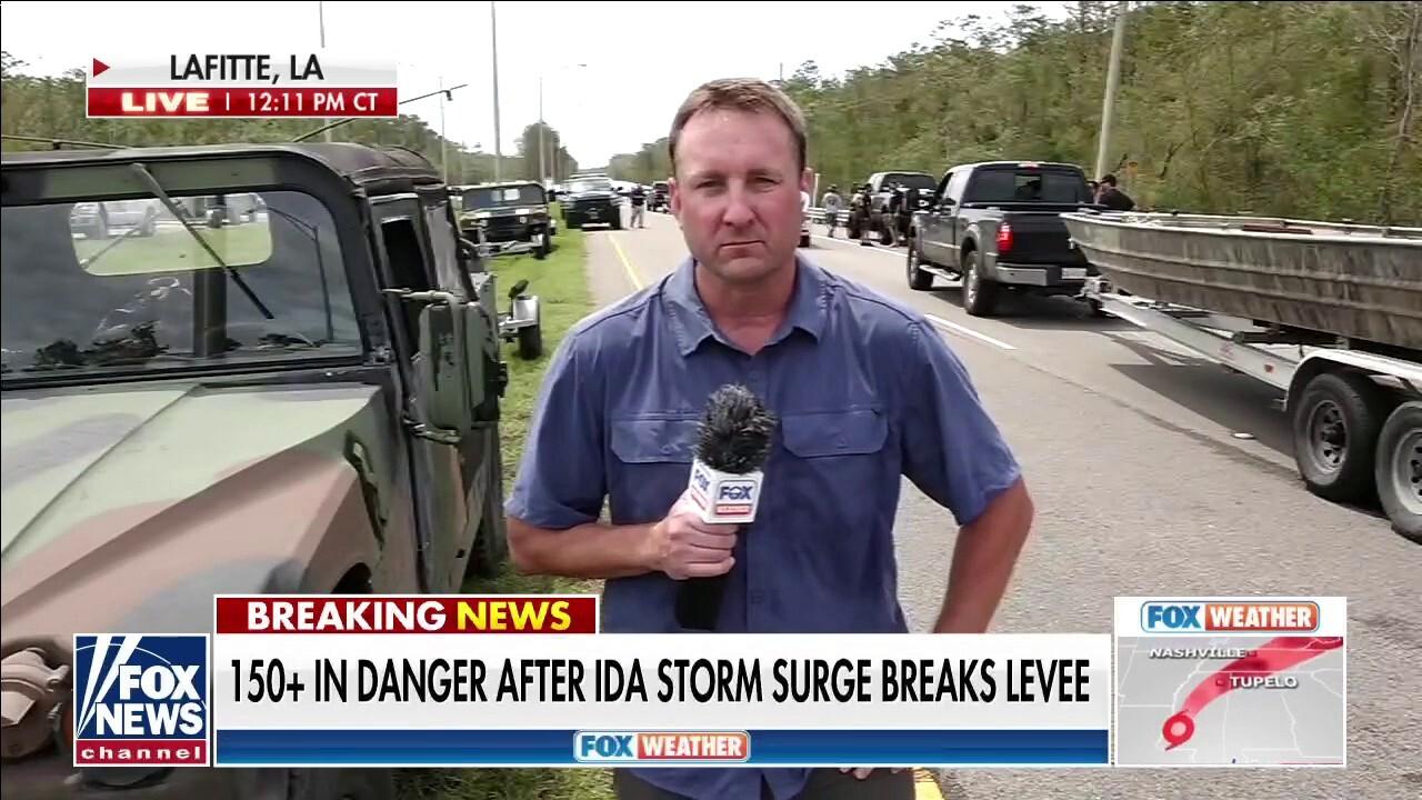 More than 150 people in danger after levee break in Lafitte, La.