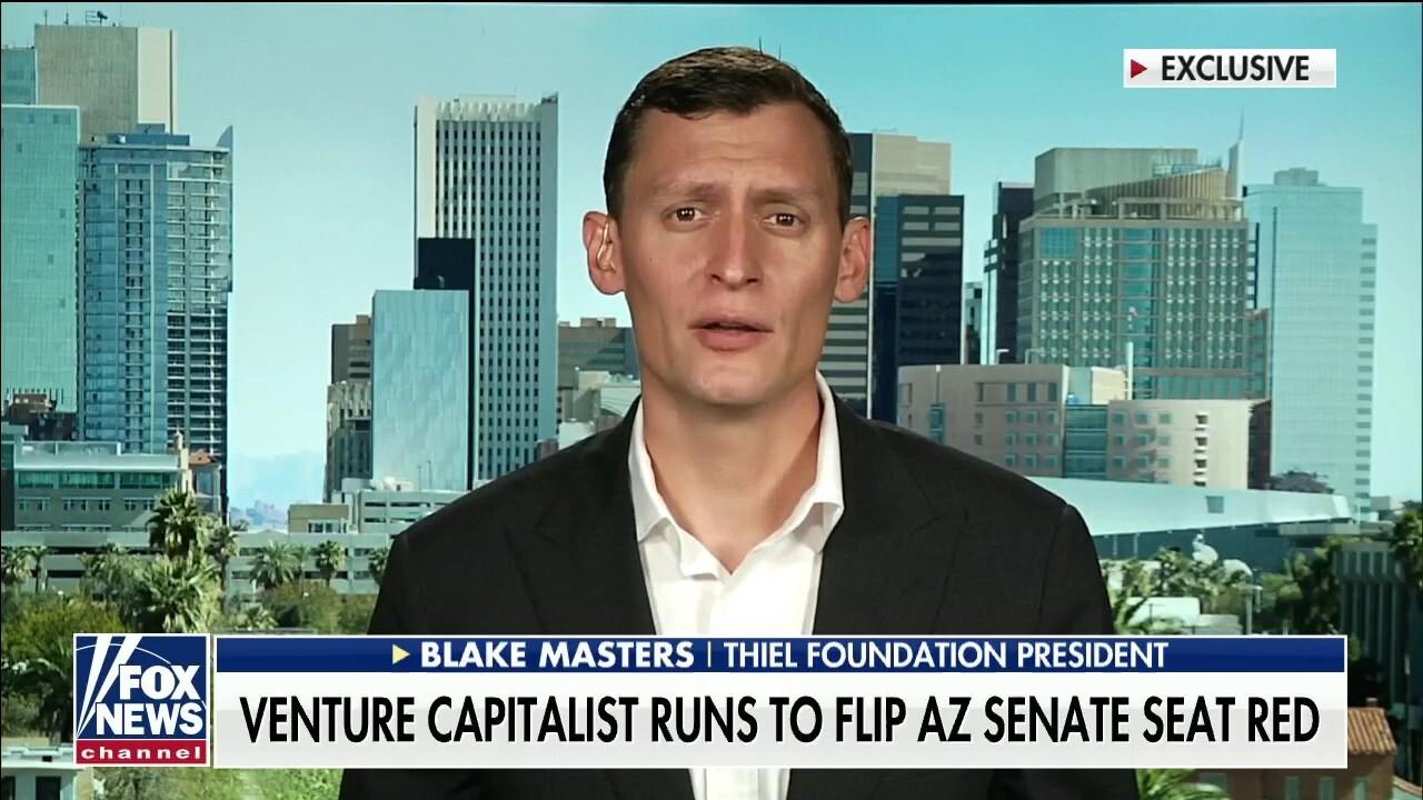 Venture capitalist Blake Masters runs to flip Arizona Senate seat for Republicans: 'Everything is at stake'