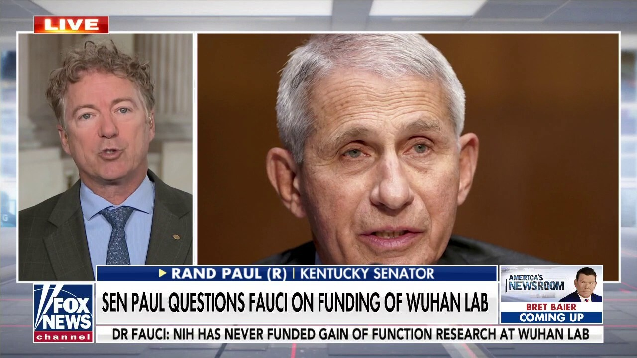 Rand Paul clashes with Dr. Fauci over alleged Wuhan lab funding by the NIH