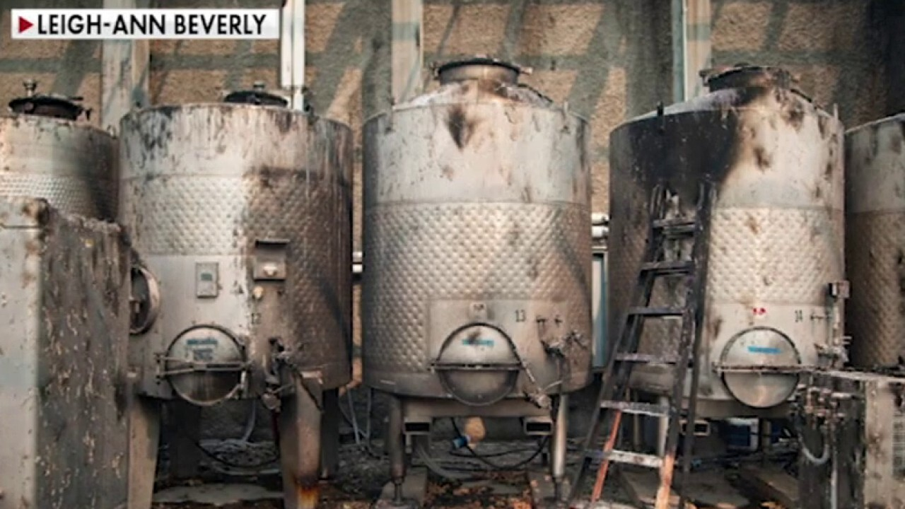 Wineries in California ravaged by wildfires