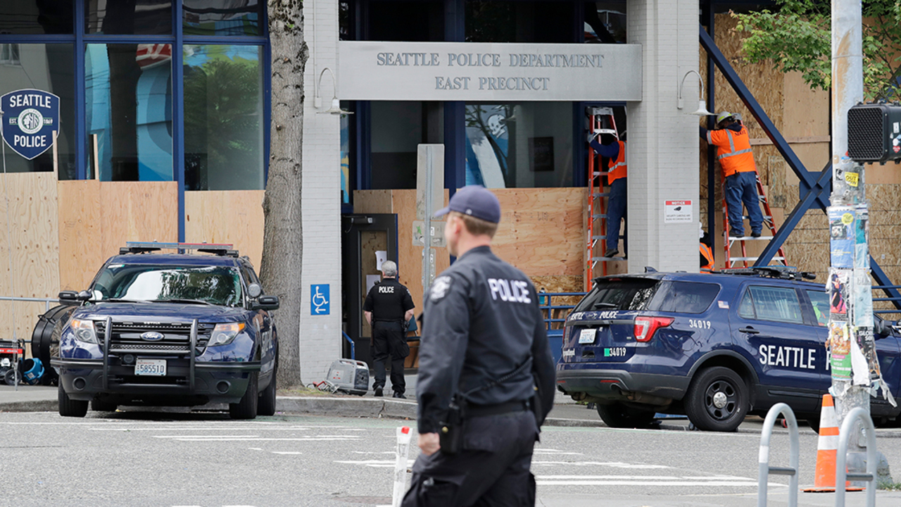 Seattle police retreat from precinct for protests