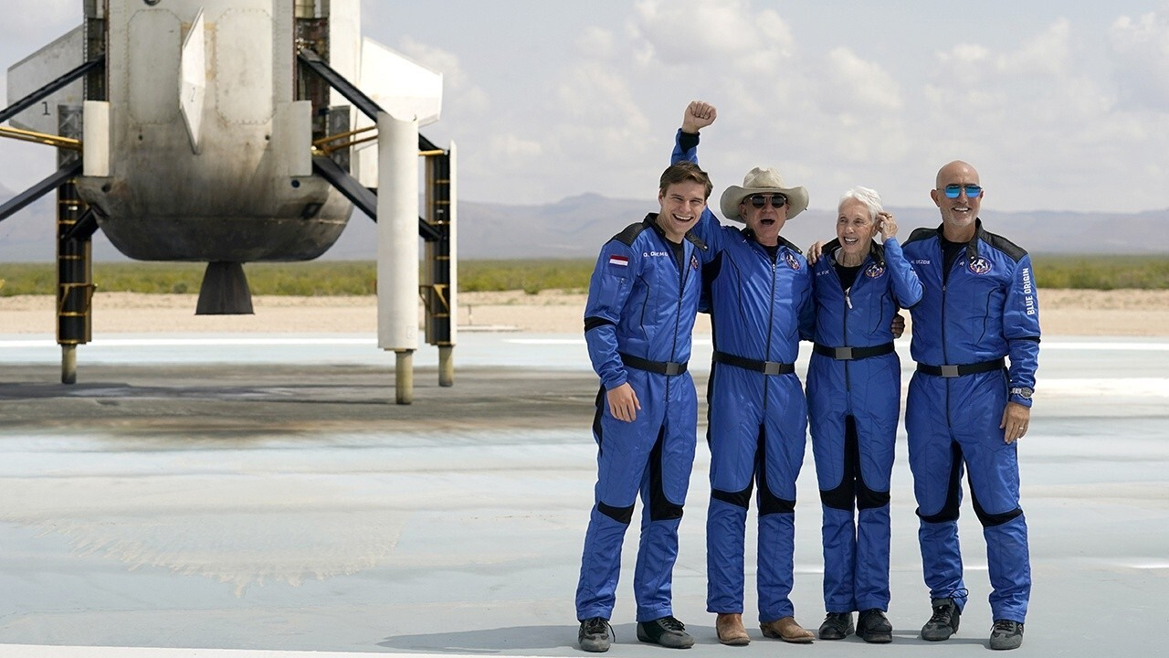 Historic trip has youngest and oldest to reach space