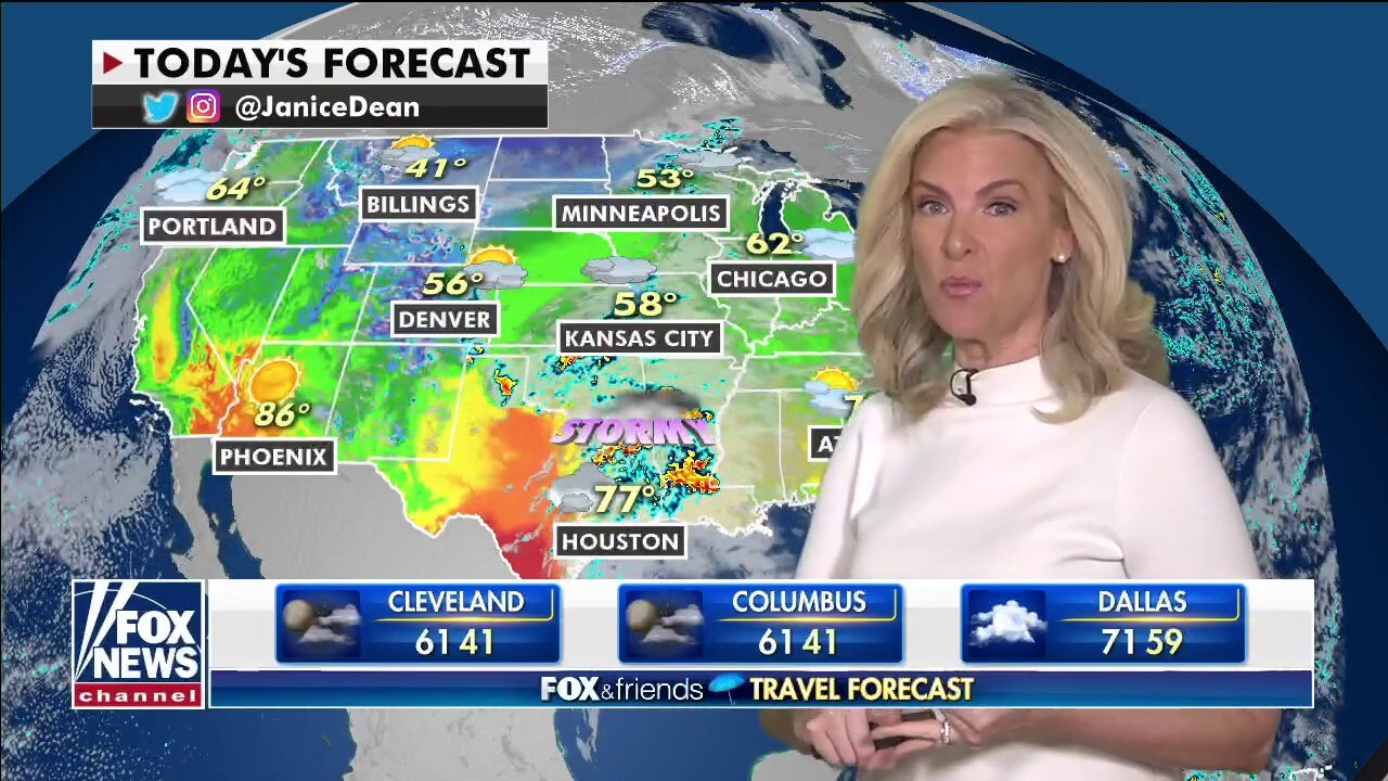 National weather forecast, April 23