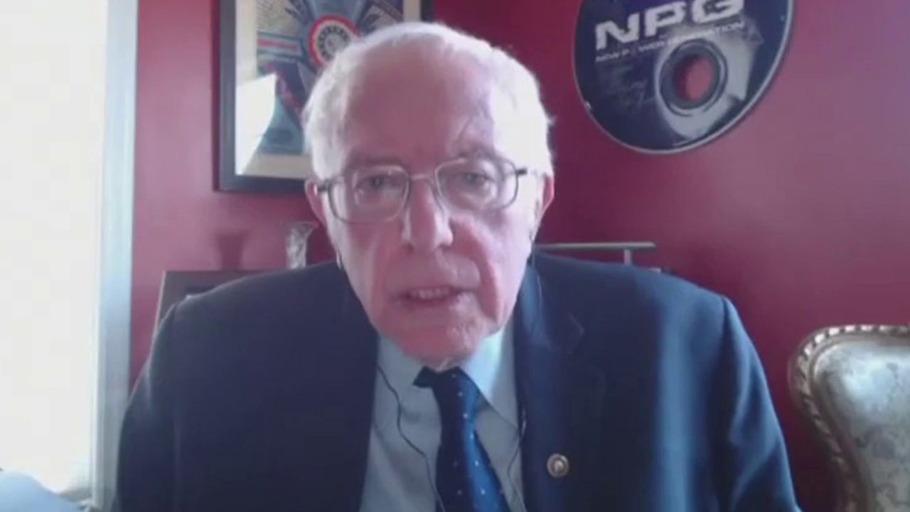 Bernie Sanders addresses need for coronavirus vaccine to be available for all Americans regardless of income