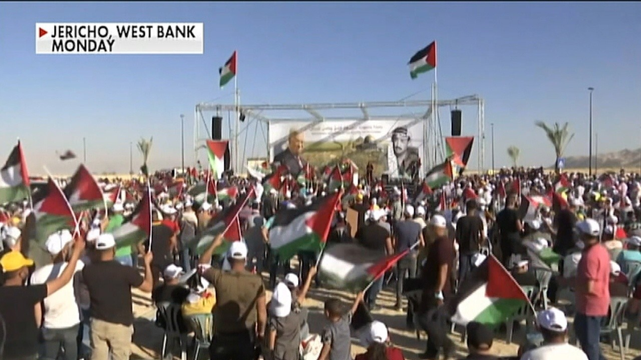 Palestinians protest Israeli annexation plans