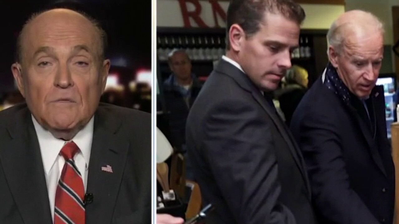 Giuliani on Hunter Biden emails: Information, photographs will 'shock the hell out of you'