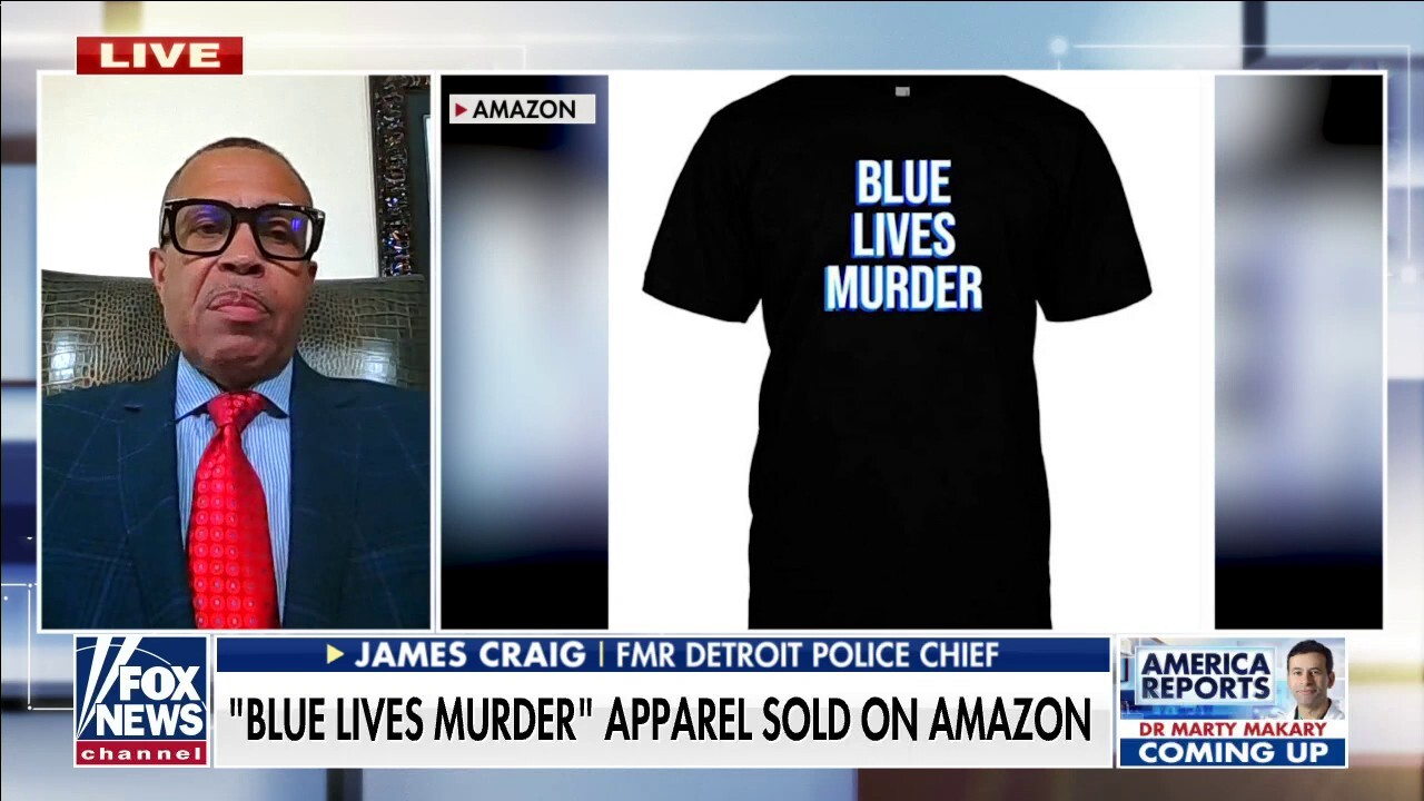 Amazon under fire for selling 'Blue Lives Murder' apparel: 'It's hypocrisy and it's wrong'