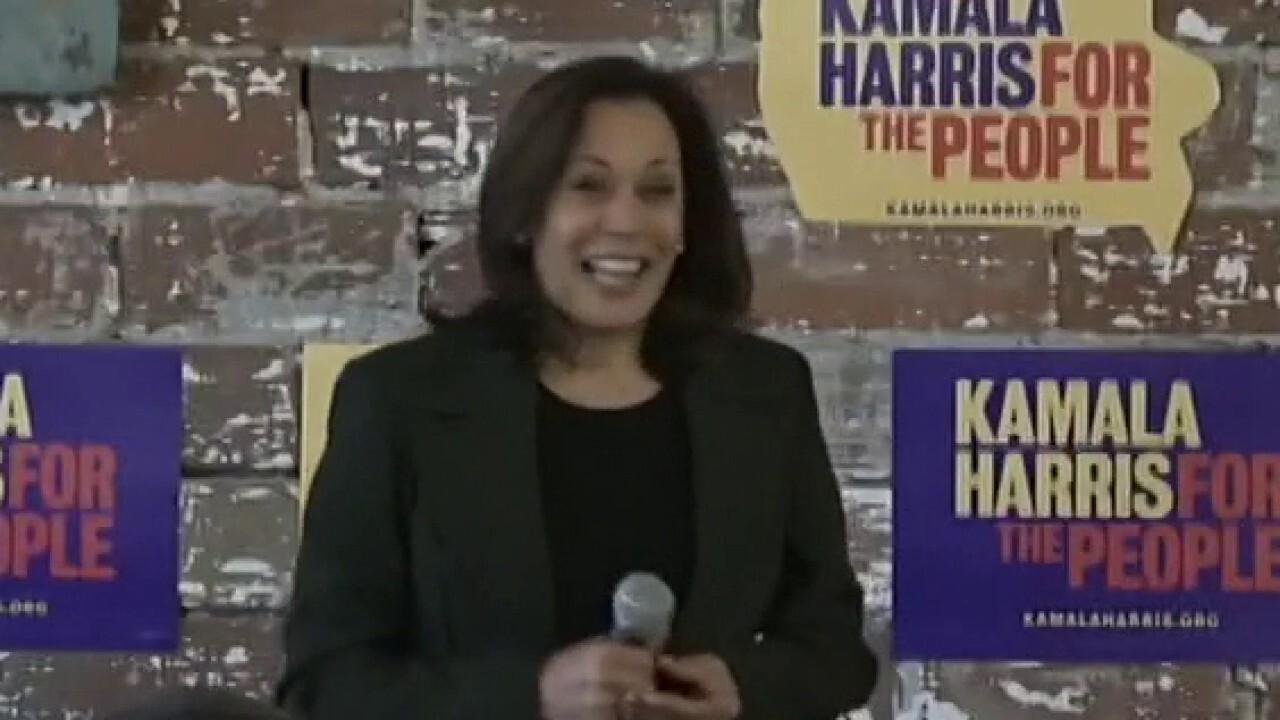 Biden calls Harris 'a fearless fighter for the little guy'