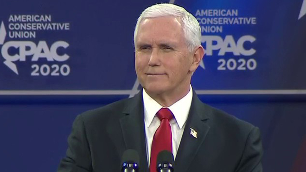 Pence addresses coronavirus at CPAC: This is not the time for partisanship