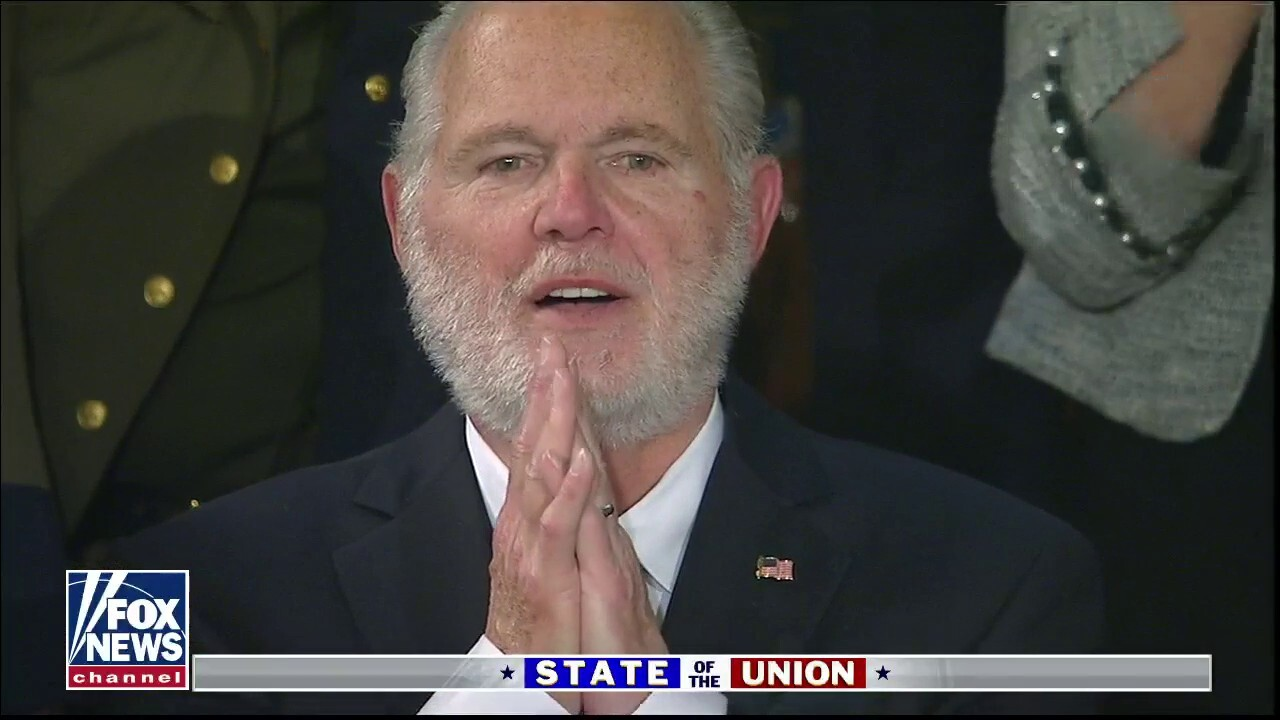 Rush Limbaugh awarded Presidential Medal of Freedom at SOTU