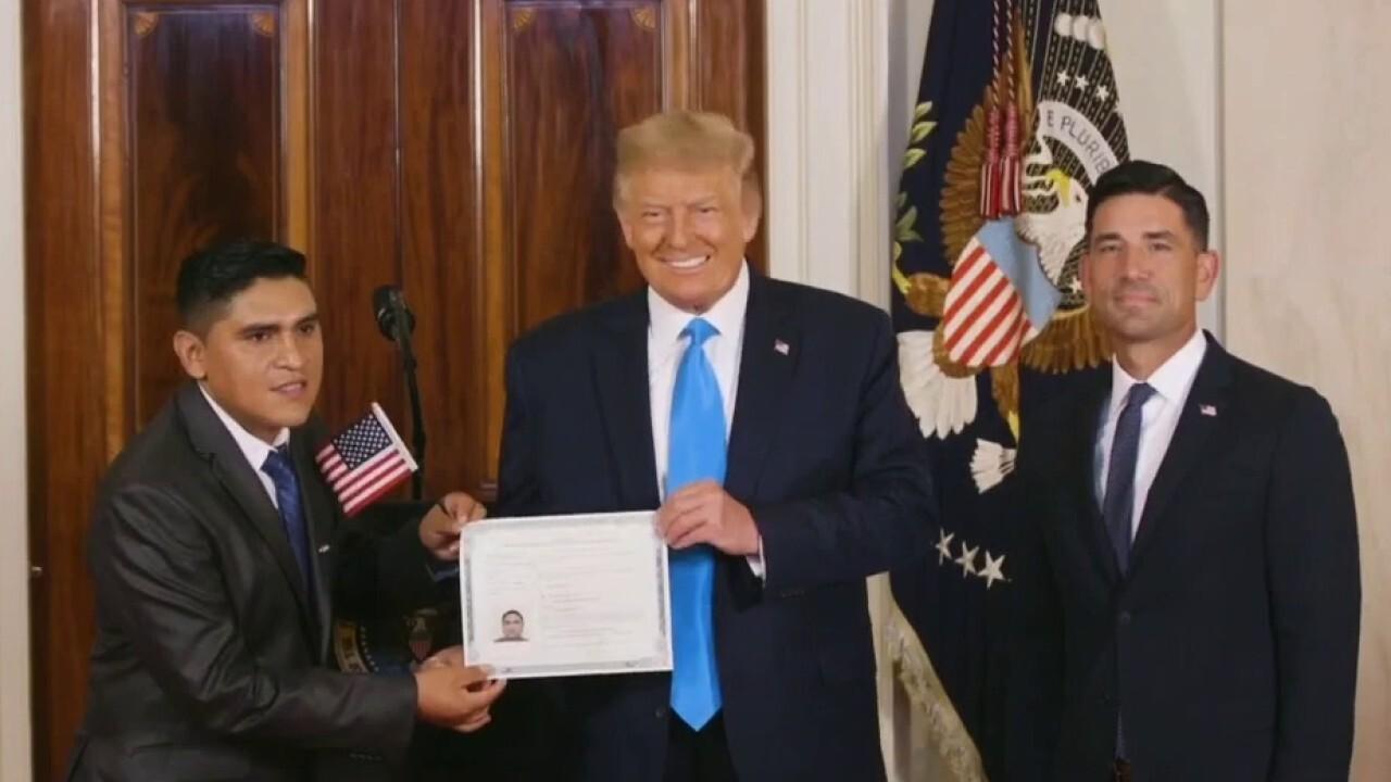 President Trump participates in naturalization ceremony