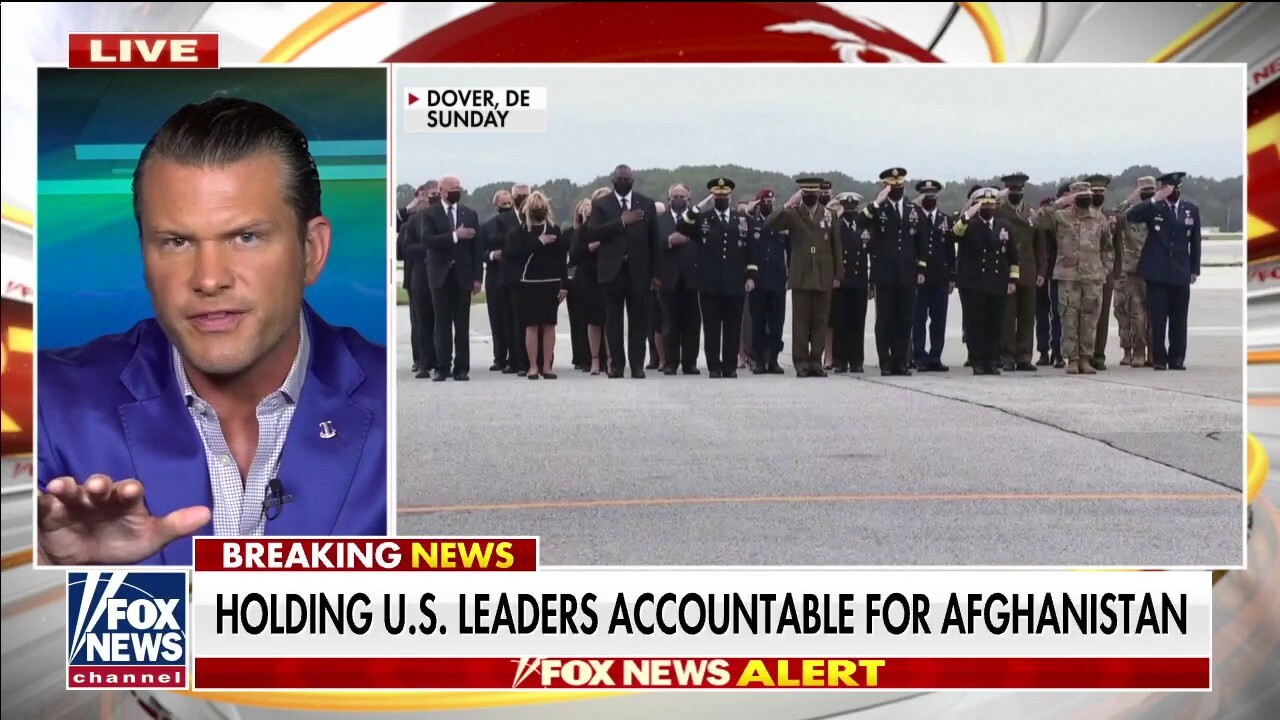 Hegseth criticizes Biden for checking watch while meeting with families, rips 'betrayal' of our military