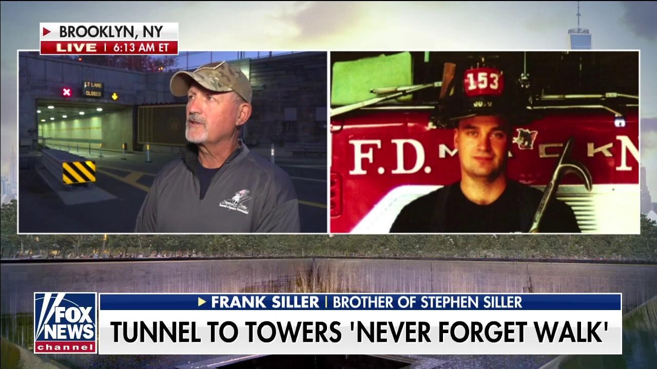 Frank Siller finishes his walk to Ground Zero