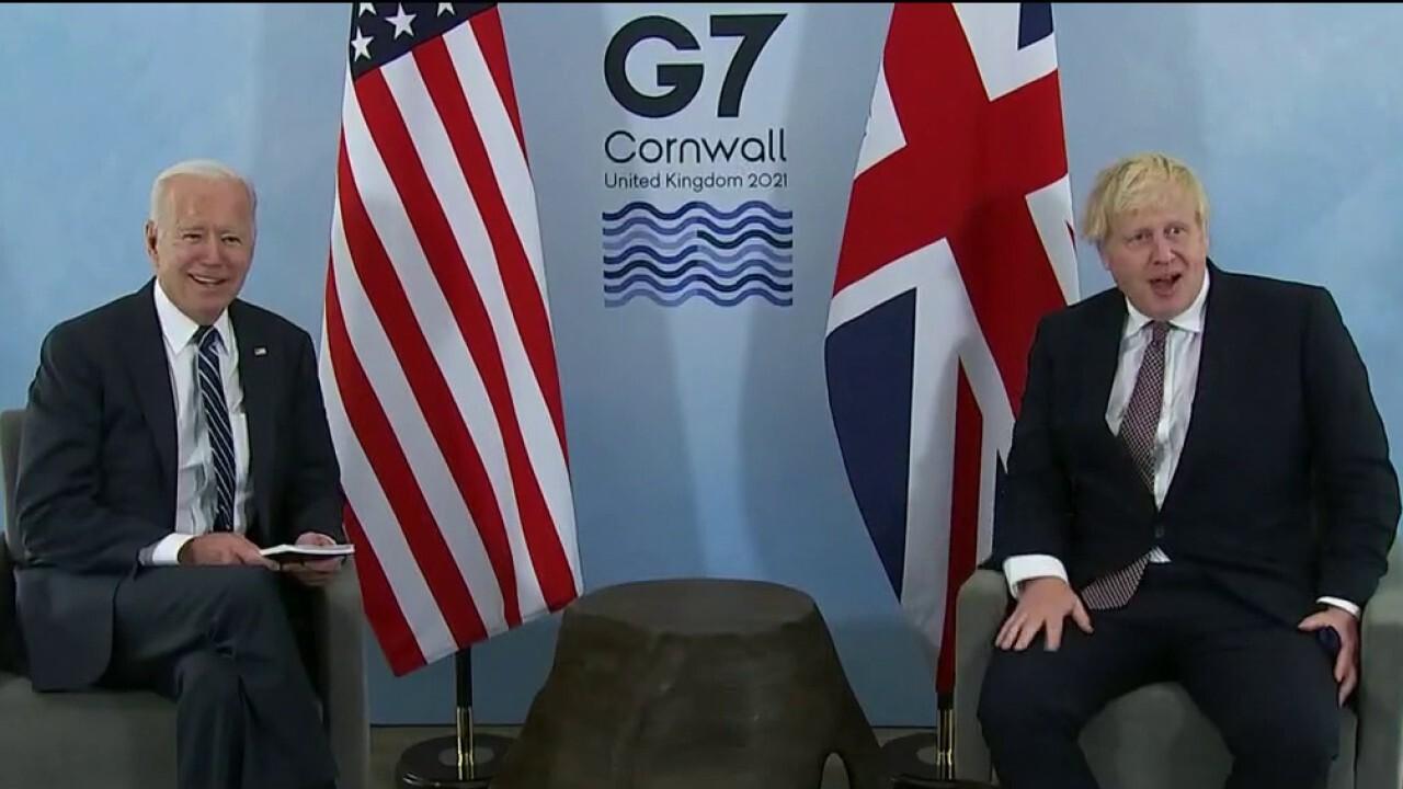 Biden, Boris Johnson appear to hit it off at G-7 summit