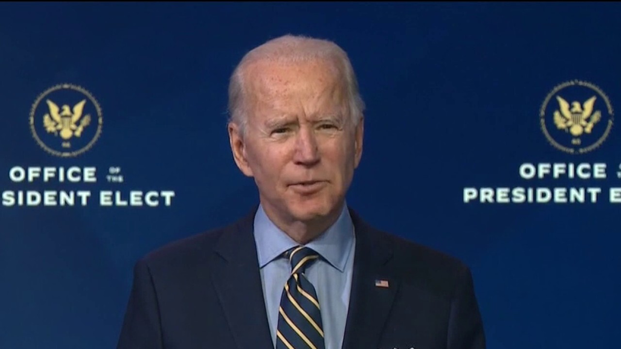 Biden claims transition team 'not getting the information we need' from outgoing administration