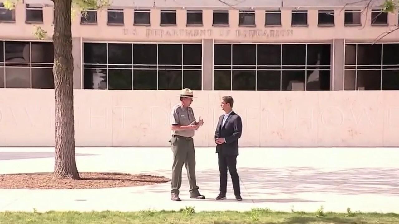 Fox News correspondent Griff Jenkins tours the Dwight D. Eisenhower Memorial