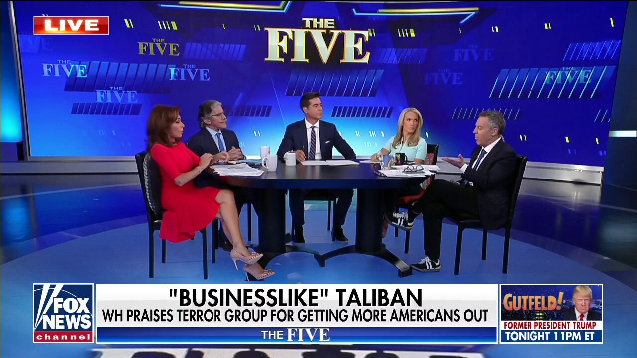 'The Five' reacts to White House saying Taliban acted 'businesslike' amid evacuation