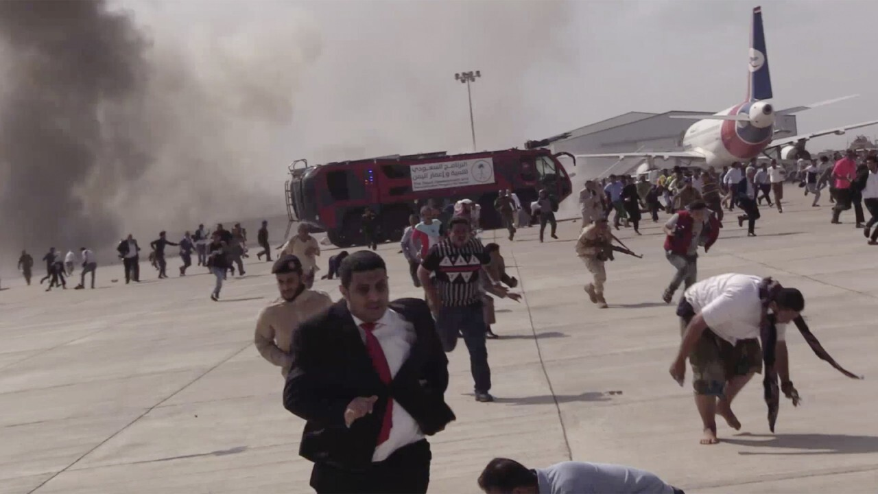 Blast in Yemen airport as new government arrives