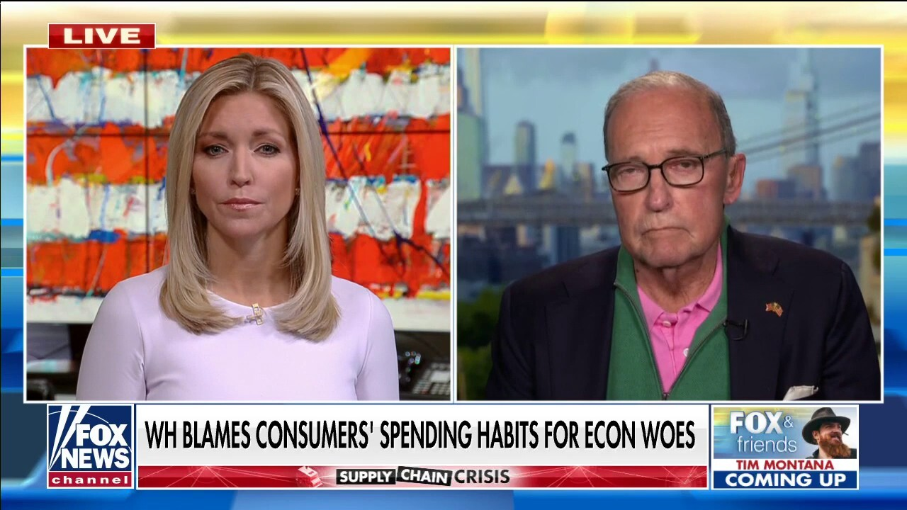 Larry Kudlow, host of 'Kudlow' on FOX Business addresses Biden's failures on the supply chain crisis and gas prices