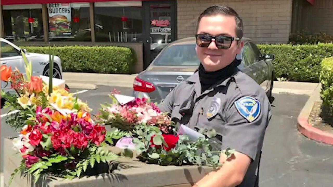 Officers deliver Mother's Day flowers after driver's DUI arrest