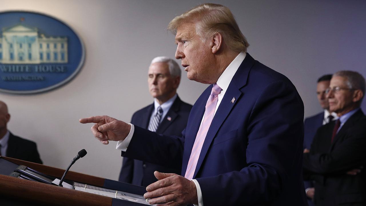 Trump's tougher tone on virus
