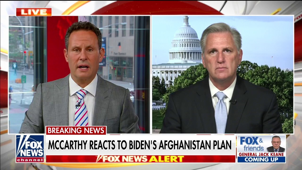 McCarthy rips Biden for 'trusting' the Taliban: He's 'allowing the Taliban to choose our foreign policy'