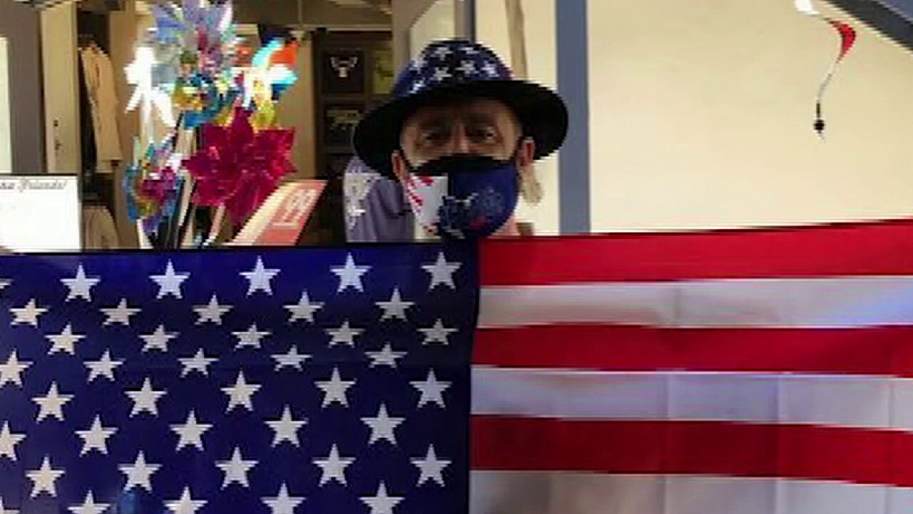 California store owner on giving away free flags, patriotic masks