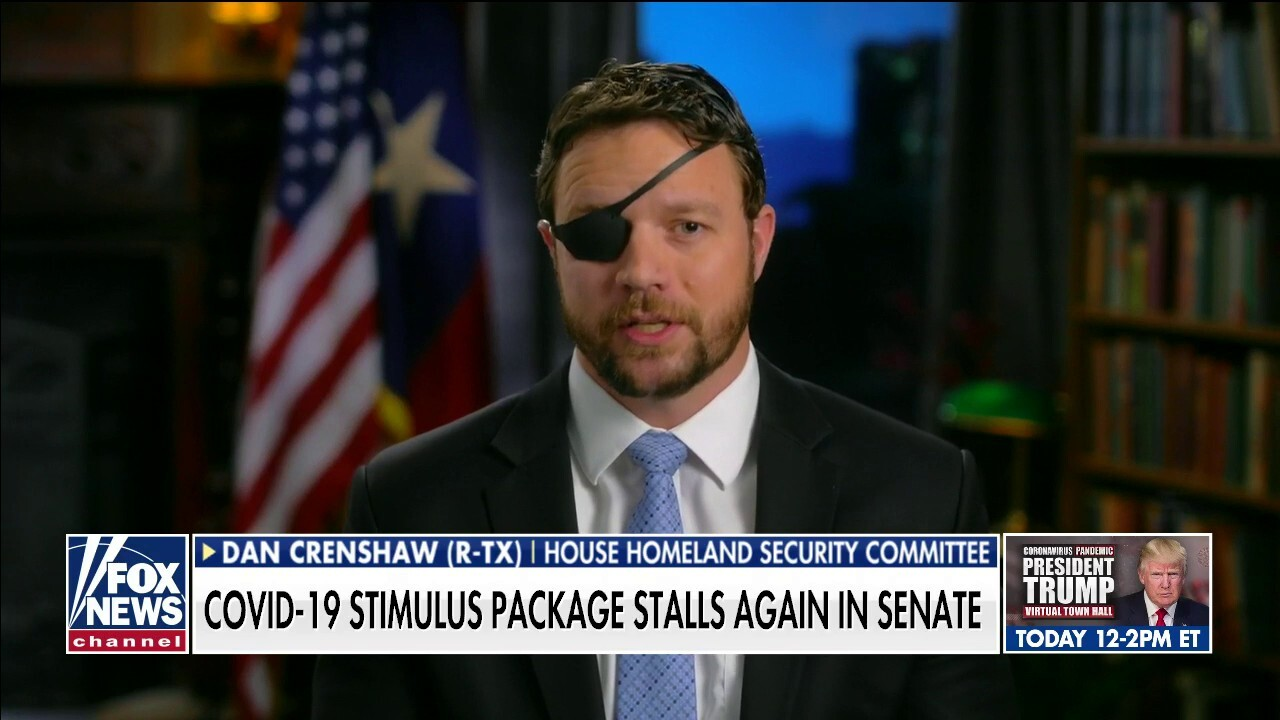 TX Rep. Dan Crenshaw calls out Democrats for stalling relief bill again in Senate