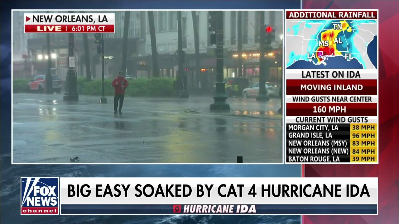 Power outages reported in New Orleans as Hurricane Ida slams southwest