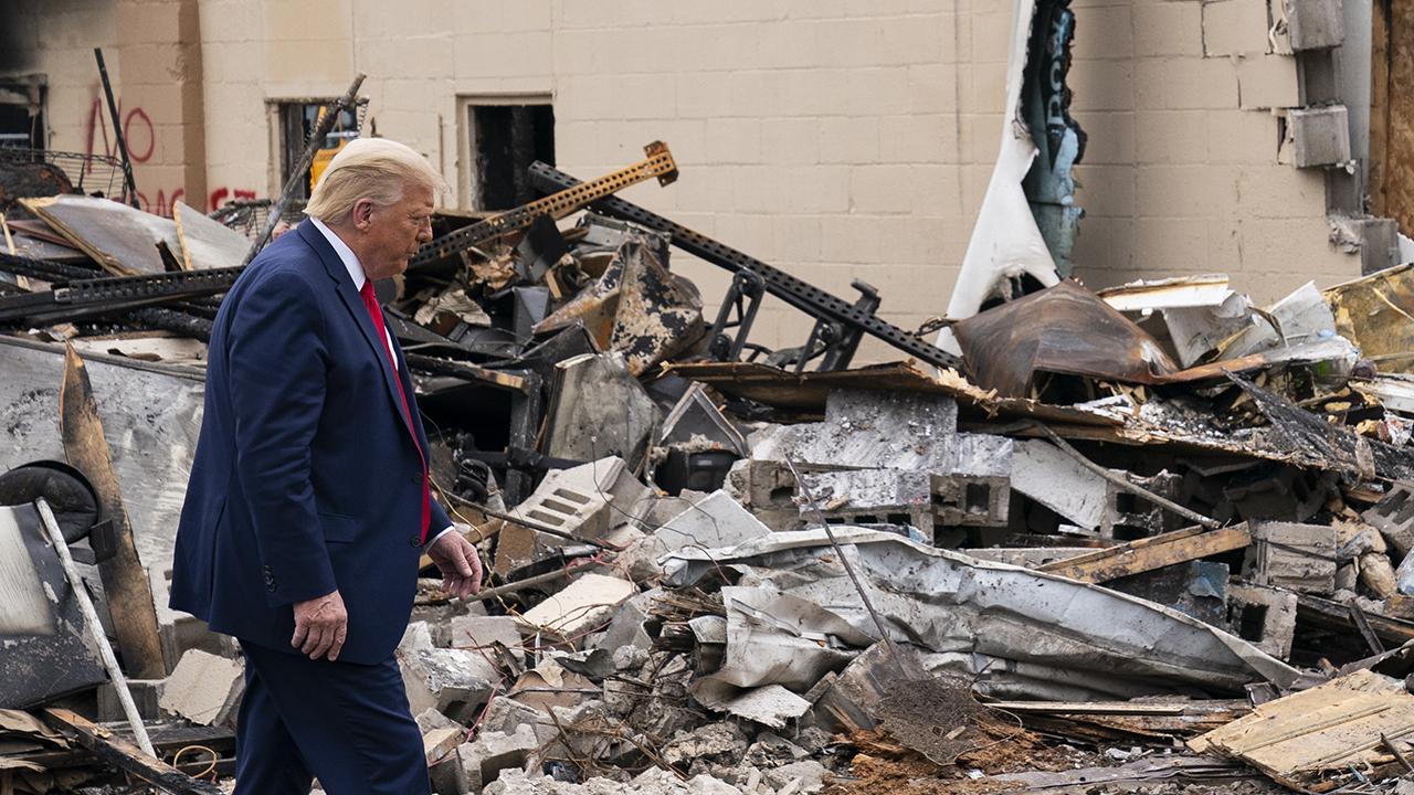 Trump condemns riots as 'domestic terror' during Kenosha visit