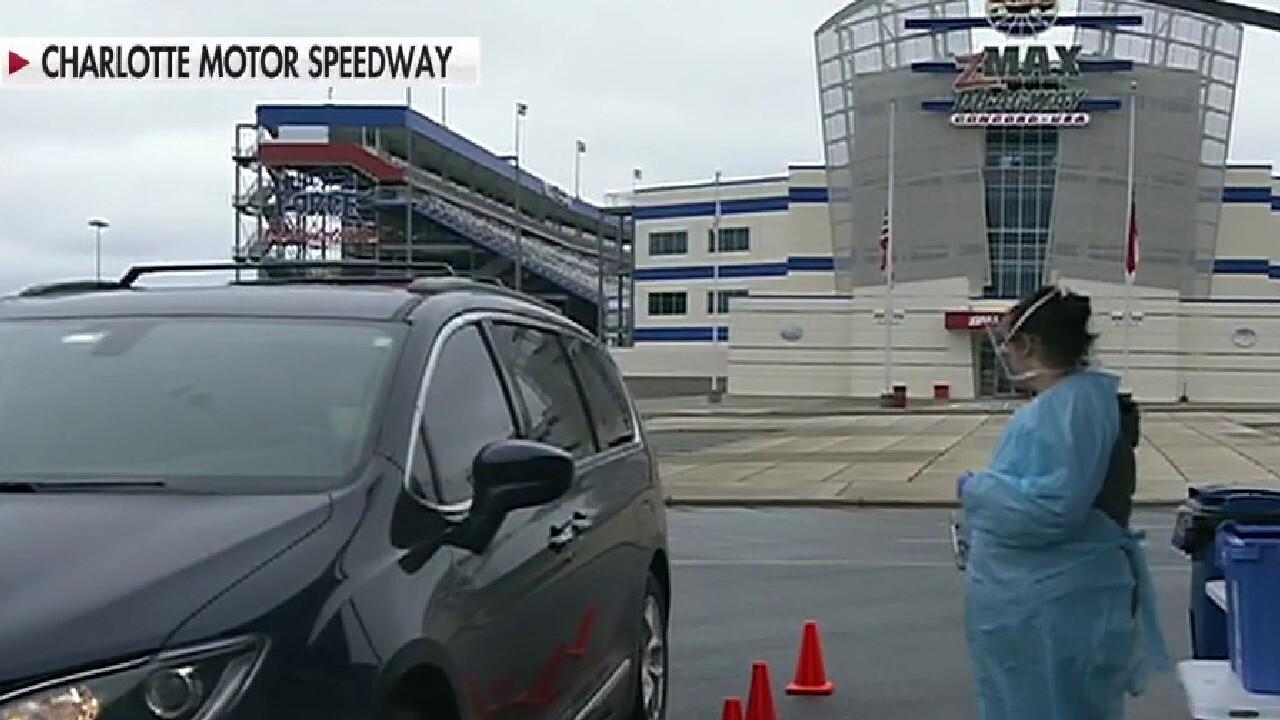 Hospital system sets up coronavirus testing sites at Charlotte Motor Speedway