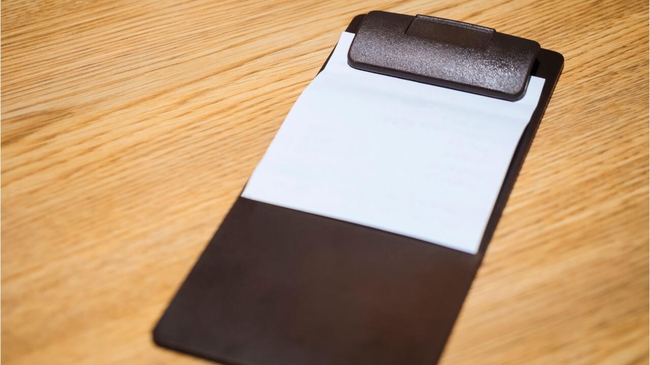 Restaurant fires waiter who left disturbing message to police detective on receipt