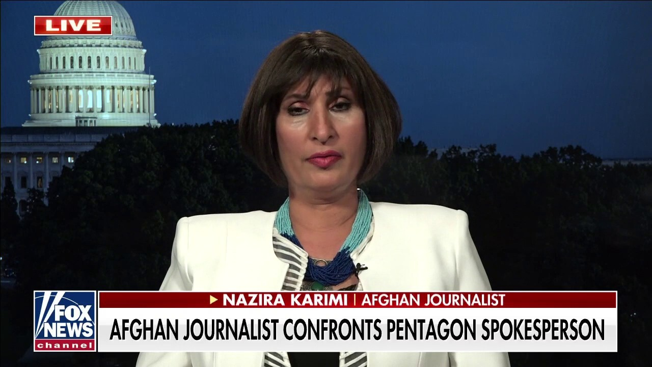 Afghan journalist who pressed Pentagon: US has 'responsibility' to my people
