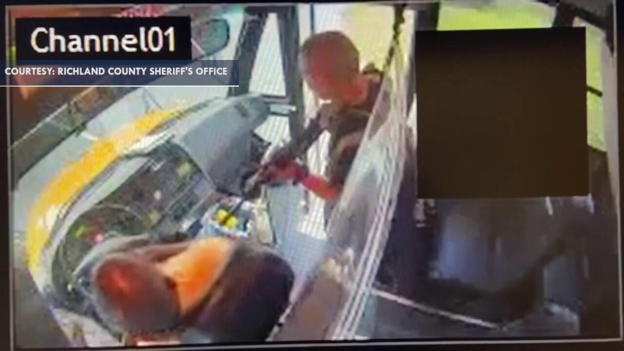 Surveillance video shows Fort Jackson trainee hijacking school bus