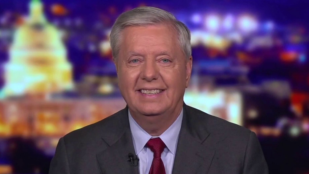 Sen. Lindsey Graham reacts to Senate's approval of debt ceiling hike