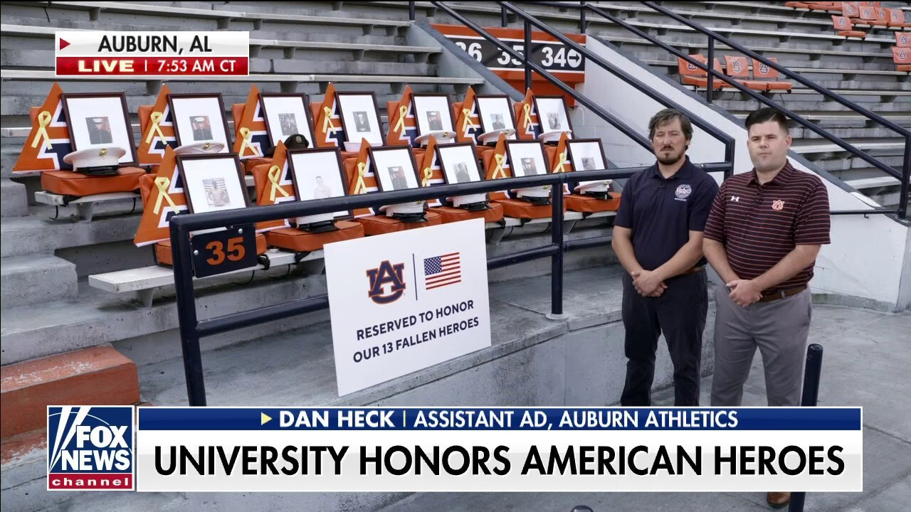 Auburn reserves 13 seats at football stadium for US service members killed in Afghanistan